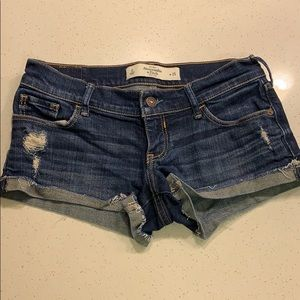 Jean shorts. Abercrombie and Fitch size 0